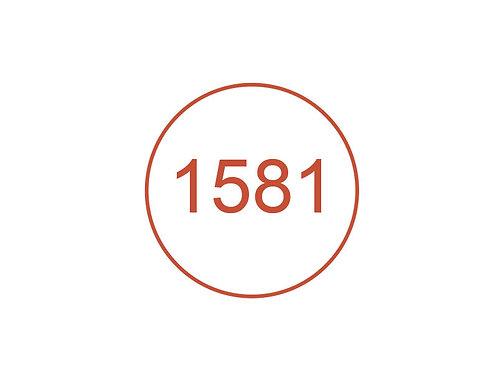Número 1581