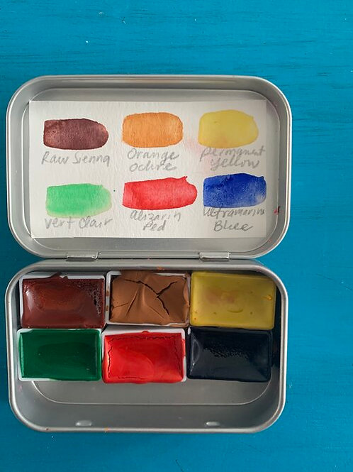 Handmade Watercolors in Altoid Tin