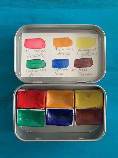 Handmade Watercolors in Altoid Tin