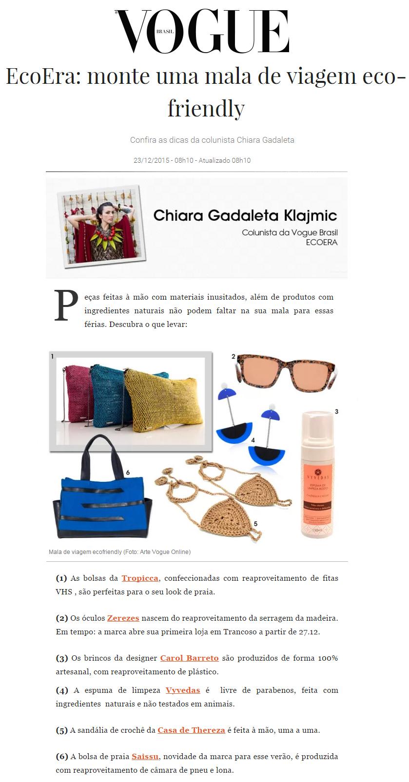 Site Vogue Brasil