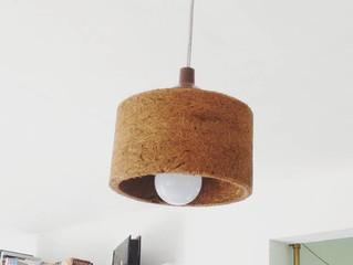 Luminária de fibra de coco