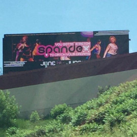 We made it to a Billboard on the side of the road!