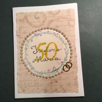 Biglietto solidale 50 anni di matrimonio