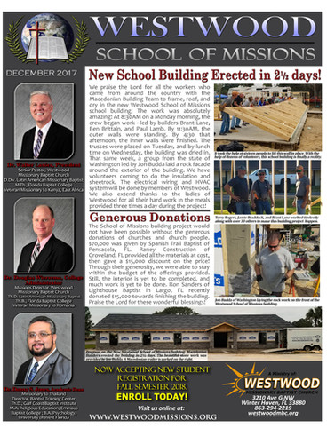 New School Building Erected in 2 1/2 Days!
