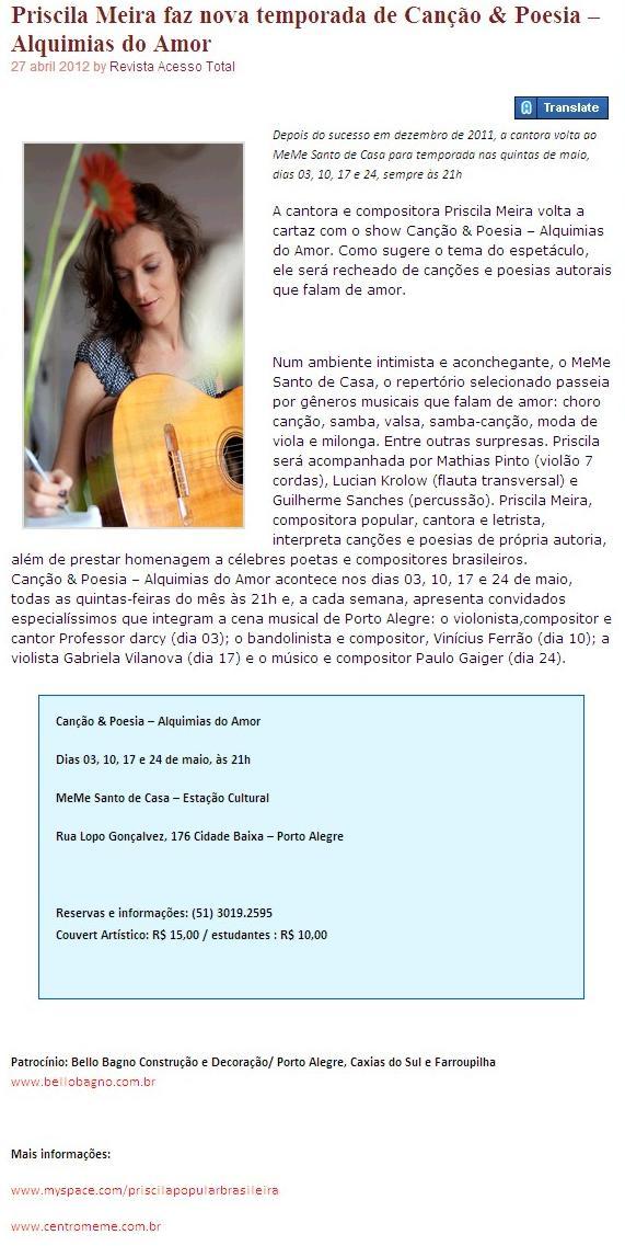 AcessoTotal Revista :: 27 abril 2012
