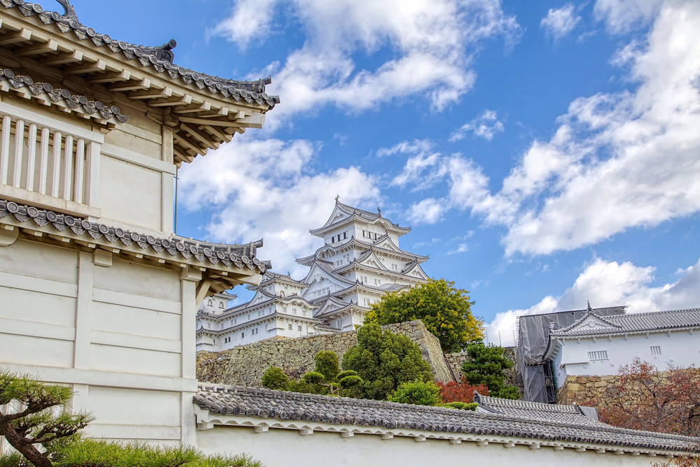 The most pristine castle by far is located in the city of Himeji. Himeji castle has never been damaged by natural disaster or war