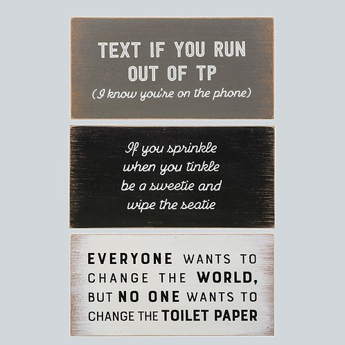 Potty Talk Box Plaques