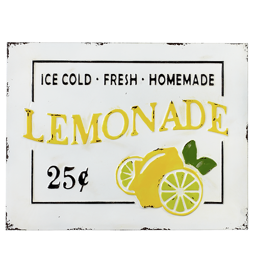 Lemonade Enameled Sign