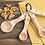 Thumbnail: Wooden Measuring Spoon Set