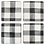 Thumbnail: Black & White Gingham Coaster Set