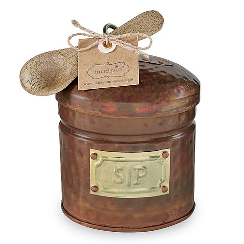 Copper Salt & Pepper Cellar Set