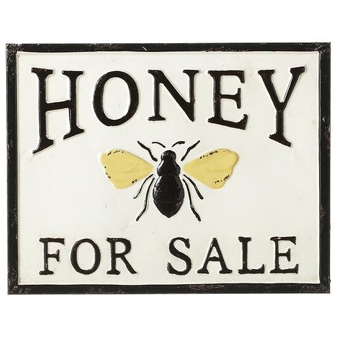 Enameled Honey Sign