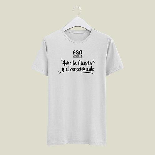 Camiseta FSA (Amo la Ciencia y el Conocimiento)