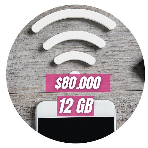 Dona 12 GB de Internet