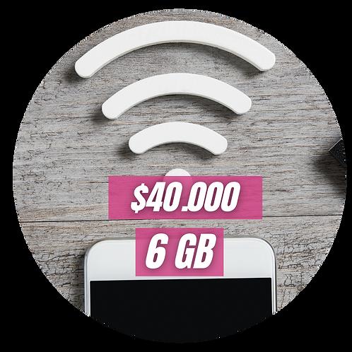 Dona 6GB de Internet