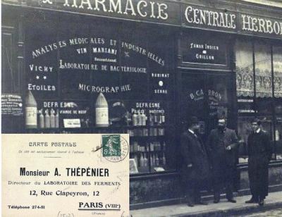 Thepenier Phama & Cosmetics a été fondé par Alfred Thepenier, scientifique qui déposait ses propres AMM, formulait des médicaments
