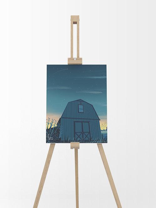 Le Ranch : Tableau sur toile 40x30 cm
