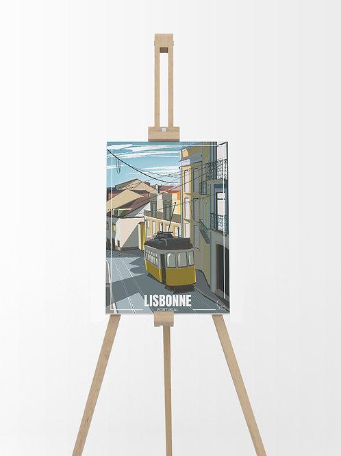 Lisbonne : Tableau sur toile 40x30 cm