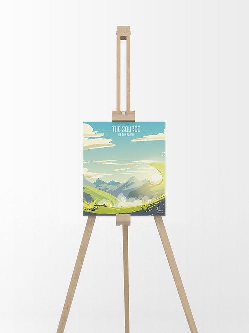 The Source : Tableau sur toile 40x40 cm