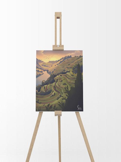 Vallée du Douro : Tableau sur toile 40x30 cm