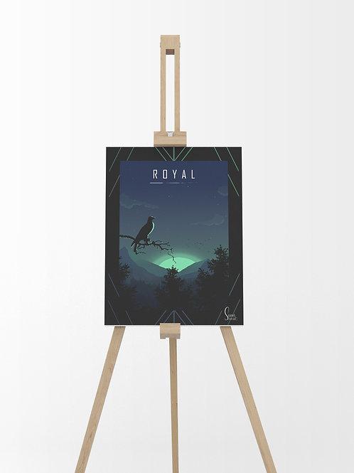 Aigle royal : Tableau sur toile 40x30 cm