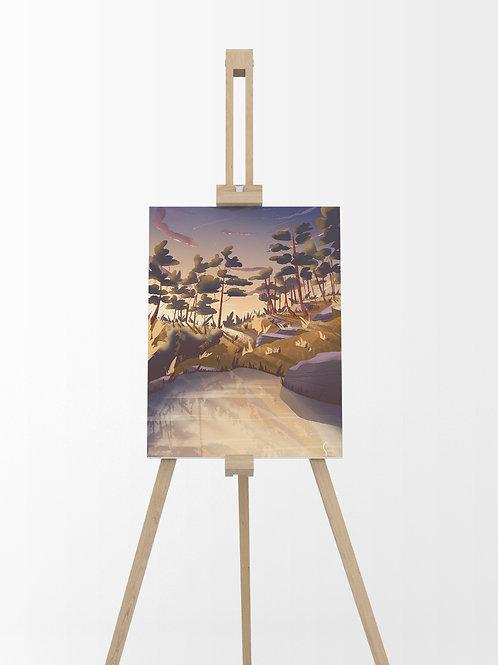 Paysage Automne : Tableau sur toile 40x30 cm