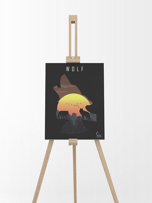 Wolf : Tableau sur toile 40x30 cm