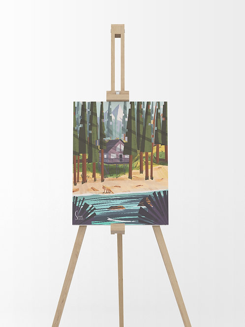Rivière : Tableau sur toile 40x30 cm