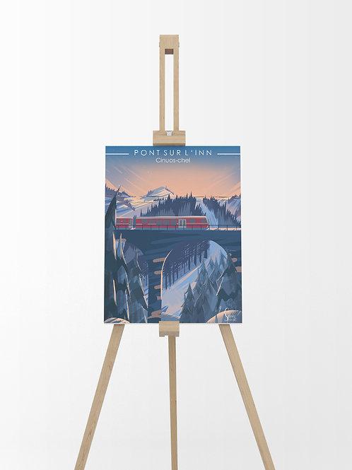 Cinuos Chel : Tableau sur toile 40x30 cm