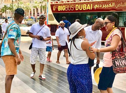 Friends in Dubai