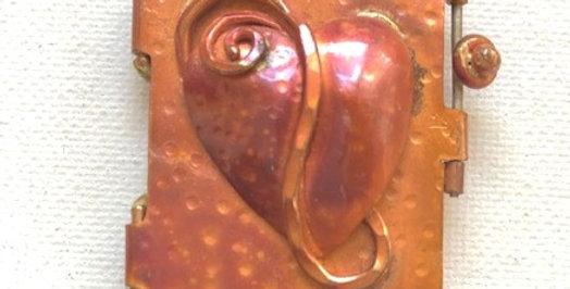 Heart - Copper Pendant Locket