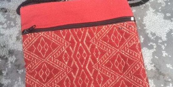 Handwoven Red Naga Bag
