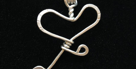 Open Heart Pendant by Angela Rose