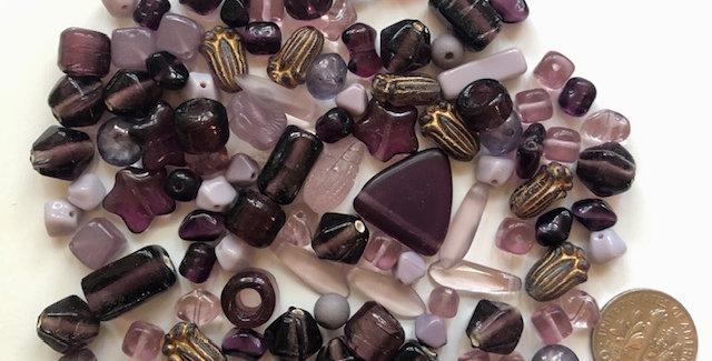 Purple Glass Beads