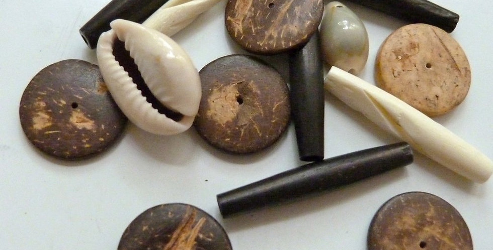 Wood, Bone & Shell Embellishments