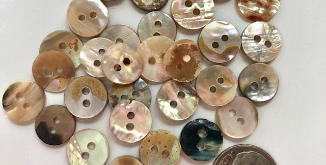 Tiny, Vintage Mother of Pearl Buttons
