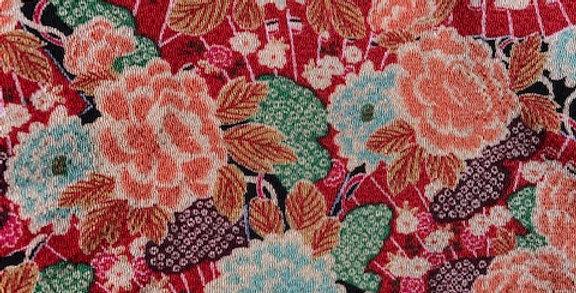 Japanese Rayon Chirimen Fabric