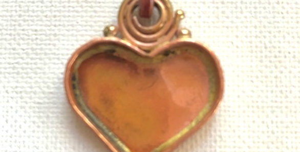 Copper Spiral Heart Pendant