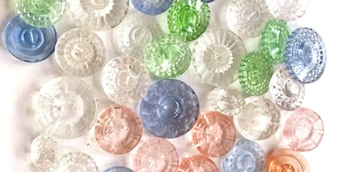 Vintage 1920's Glass Buttons