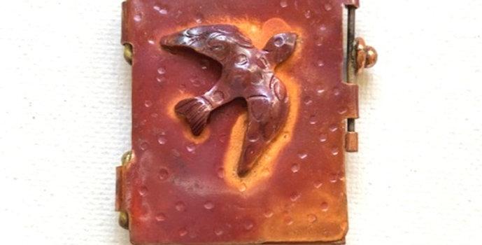 Dove-Copper Locket Pendant