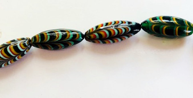 Italian Lampwork Feather Beads