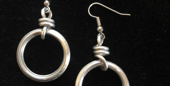 Hoops with a Coil by Angela Rose