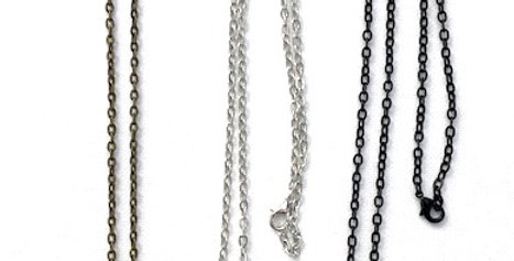 Square Pendants with Chain