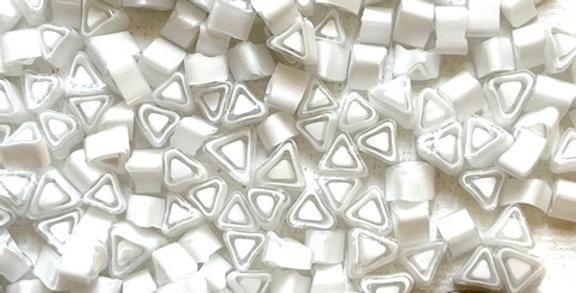Murrine-White Transparent Triangles