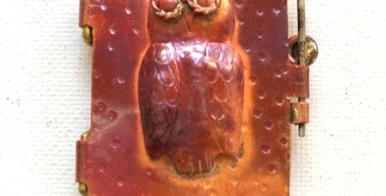 Owl - Copper Pendant Locket