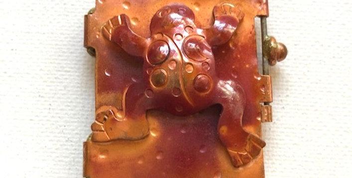 Frog - Copper Pendant Locket
