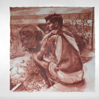 "Jalisco's Combo Meal (Chris), 2020 72""x72"" Acrylic on canvas"