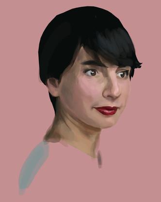 Digital Drawing of Artist: Yesenia Villaseñor