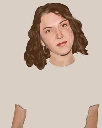Digital Drawing of Artist: Natalia Corazza