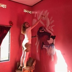 Painted 17 Murals in the Girls' Home